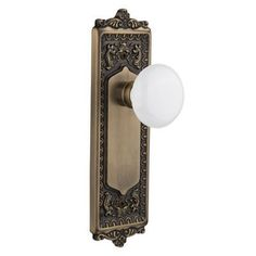 Nostalgic Warehouse White Porcelain Single Dummy Door Knob with Egg and Dart Plate Finish: