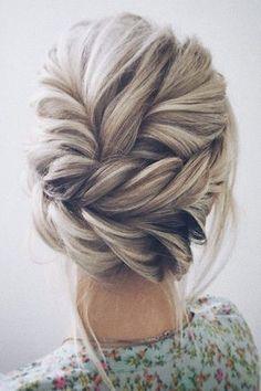 twisted wedding updo hairstyle #shorthairstylesupdo