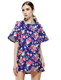 $33.51  Elf Sack Womens Summer Dress Round Neck Princess Sleeve Palace Jacquard at Amazon Women's Clothing store: