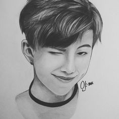 how to draw rap monster
