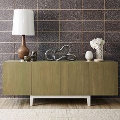 Enjoy the texture of oak, exacting craftsmanship and your choice of beautiful stains my Chest Credenza is available from Wall Colors, House Colors, Hallway Inspiration, Living Room Styles, Bookshelf Styling, Beautiful Living Rooms, Wall Wallpaper, Adjustable Shelving, Credenza