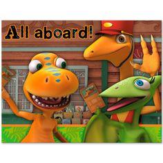 Dinosaur Train Party Invitations