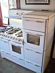 Like this-vintage kitchen stove