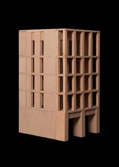 Al Jawad Pike simétric desing Architecture Model Making, Brick Architecture, School Architecture, Concept Architecture, Bridge Design, Gate Design, Grey Painted Walls, Concrete Facade, Architectural Sculpture