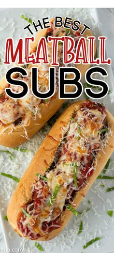 Homemade meatball subs made with the best homemade meatballs. Fresh made meatballs, topped with fresh made marinara sauce, and melted cheese these homemade meatball subs are sure to be loved by all! Meatball Sub Sandwiches, Meatball Sub Recipe, Baked Meatball Subs, Best Meatballs, Pork Meatballs, Pork Recipes, Cooking Recipes, Detox Recipes, Catering Food