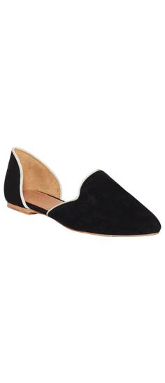 FLORENCE FLATS BLACK/WHITE Crazy Shoes, Black Flats, Florence, Slippers, Footwear, Loafers, Women's Fashion, Black And White, Boots