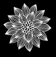 Flower Decal Lotus Vector, Monograms, Stencils, Initials, Mandala, Decals, Drawings, Flowers, Products