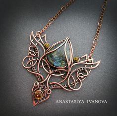 necklace with labradorite by nastya-iv83.deviantart.com on @DeviantArt