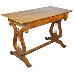 Biedermeier Fruitwood Sofa Table | From a unique collection of antique and modern sofa tables at https://www.1stdibs.com/furniture/tables/sofa-tables/