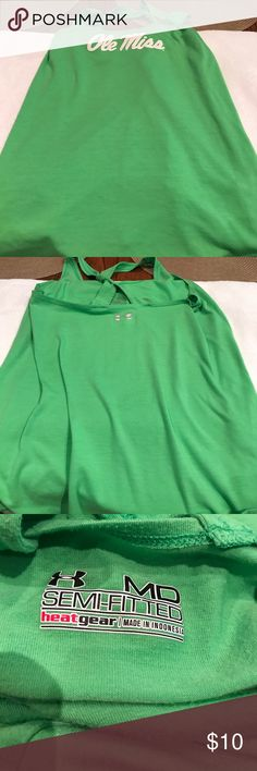 Women's Under Armour Ole Miss tank top size M Nice ole miss tank top. No rips are stains. In good used shape. Under Armour Tops Tank Tops