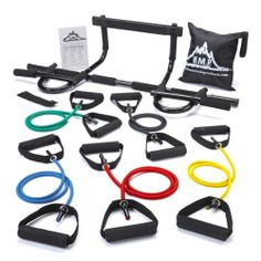 Fitness Equipment, Home Exercise Equipment Chin Pull Up Bar & 5 Resistance Bands