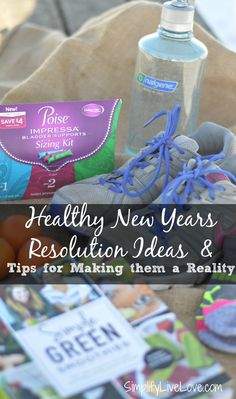 Looking for healthy new years resolution ideas? Here's a list of ideas as well as tips & tricks for how to actually achieve them this year. #LadieswithPoise #ad