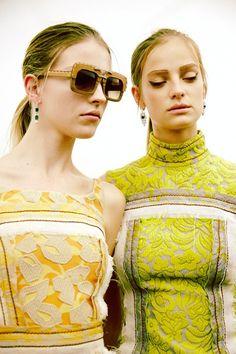 Prada SS15, womenswear, Dazed backstage