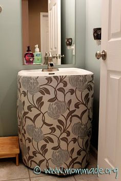 Pedestal Sink Skirt Mom Made