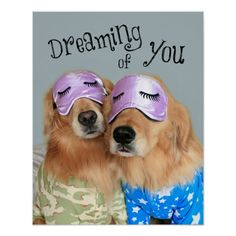 Golden Retriever Dreaming of You Poster by #AugieDoggyStore