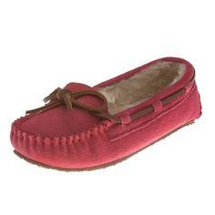 Minnetonka Moccasins 4815 - Hot Pink Suede Cassie Slipper