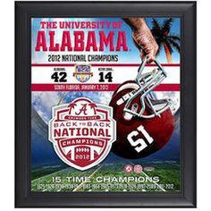 Alabama Crimson Tide 2012 BCS National Champions Framed 15'' x 17'' Back-to-Back Champions Collage