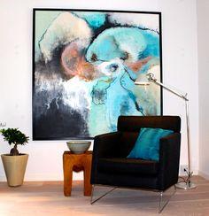Maleri af Pia Boe til indretningsopgave udført at boligstylist Tina Dalbøge