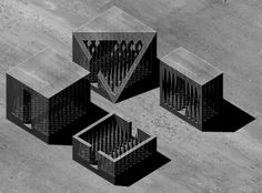 Architecture And The Poetic, John Hejduk, Victims. Architecture Drawings, Amazing Architecture, Architecture Design, Architecture Models, John Hejduk, Ice Houses, 3d Modelle, Arch Model, Parametric Design