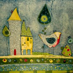 Search - original mixed media - love this picture and the colors for quilt inspiration