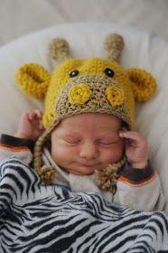 Welcome, Darling.: Newborn Giraffe Hat: Baby Blaize.