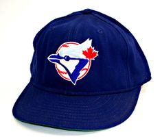 Vintage Toronto Blue Jays Fitted Cap Hat Sz 7-3/8 Pro Model Blue Major League