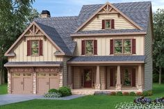Newfoundland and Labrador house plans selected from over floor plans by architects and house designers. All of our Newfoundland and Labrador house plans can be modified for you. Bungalow House Plans, Craftsman Style House Plans, Country Front Porches, Craftsman Exterior, Craftsman Bungalows, Facade Design, Farmhouse Plans, Floor Plans, How To Plan