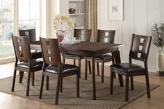 Poundex Poundex Arm chair & Dining chair F1419 (2Piece)