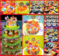 Candyland Themed Cake and Cupcakes  facebook page: Sweets 'N Heaven by Eldgie