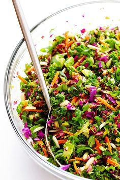 This detox salad is SERIOUSLY delicious -- made with all sorts of feel-good ingredients, and topped with a tasty Japanese carrot-ginger dressing. | gimmesomeoven.com (Vegan / Vegetarian / Gluten-Free)