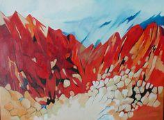 berg landschap rood