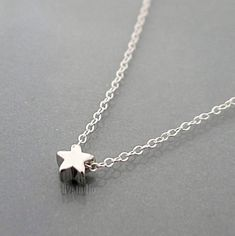 Tiny star necklace, sterling silver chain, little charm pendant, Minimalist, dainty small everyday jewelry