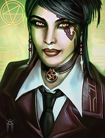 Shadowrun Returns - PC/NPC Character Portrait 01 by KARGAIN.deviantart.com on @deviantART
