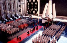 LEGO-maniac Jay Hoff used over 30,000 bricks to create this intricate scene of the Emperor's arrival in Return of the Jedi. He cheated and used some Clone Troopers instead of Storm Troopers, though.