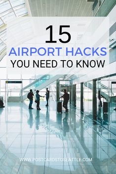 Going to the airport doesn't have to be a hassle. These 15 airport hacks will make your next trip a breeze! tips Packing Tips For Travel, Travel Advice, Travel Essentials, Travel Guides, Travel Hacks, Air Travel Tips, Packing Hacks, Traveling Tips, Travel Info