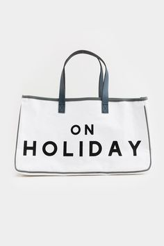 On Holiday Canvas Tote Holiday Canvas, Gym Bag, Handbags, Tote Bag, Leather, Totes, Purse, Hand Bags, Women's Handbags