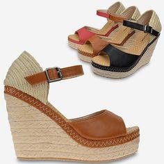 New Camel Us65 Ankle Strap Women Shoes Wedge Platforms High Heels Sandals Lb56z
