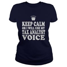 Tax Analyst Voice T-Shirts, Hoodies. ADD TO CART ==► https://www.sunfrog.com/Jobs/Tax-Analyst-Voice-Shirt-Navy-Blue-Ladies.html?41382