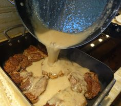The Best Ranch House Steak With Homemade Gravy – Flunking Family Cooks Country Recipes, Country Cooking, Southern Recipes, Southern Food, Chuck Eye Steak Recipe, Chuck Steak Recipes, No Carb Recipes, Beef Recipes, Cooking Recipes