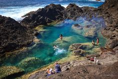 Mermaid Pools, Tutukaka, Northland, New Zealand. Northland, golden sand azure oceans.