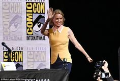 Smile and wave: Naomi Watts was part ofa panel chat for the resuscitated TV series Twin P...