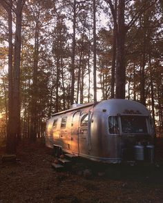 """This morning I asked a class for something fun to research. No one spoke up until one girl deadpan said """"genocide. Airstream Campers, Camper Trailers, Classic Campers, Tiny House Swoon, Glamping, Camper Life, Future Travel, First Girl, Happy Campers"""