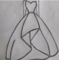 Cool Easy Drawings, Mini Drawings, Girly Drawings, Art Drawings Sketches Simple, Pencil Art Drawings, Dress Design Drawing, Dress Design Sketches, Fashion Design Sketchbook, Fashion Design Drawings