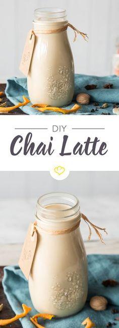 Stell dir dein Chai Latte Konzentrat selber zusammen und wann immer du willst brauchst du es nur aus dem Kühlschrank holen und mit Milch erwärmen.