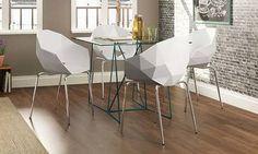 Conjunto para Sala de Jantar com Mesa com Tampo de Vidro e 4 Cadeiras…