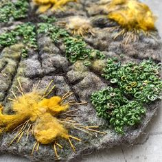 Well, I think this Moss and Lichen piece is finally finished 🌿now for something new🧵 #🤔 #textileart #felting #feltartist #upanddowndale… Mixed Media Artists, Textile Artists, Felting, Felt, Felt Baby, Felt Crafts