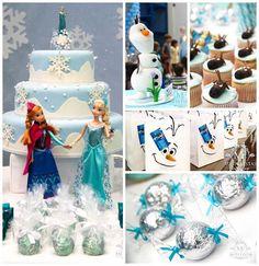 frozen party ideas   Frozen themed birthday party with Lots of Really Cute Ideas via Kara's ...