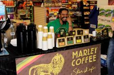 Rohan Marley at London Drugs in Cambie & Broadway for a Marley Coffee event