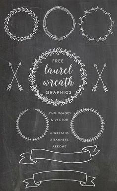 freebie 100 chalk vector elements badges ribbons labels