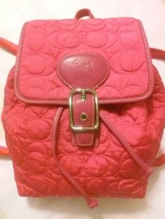 135ccffe33 Quilted fabric with leather drawstring pull